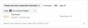 Facebook Event Custom Audiences