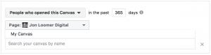 Facebook Fullscreen Experience Custom Audience