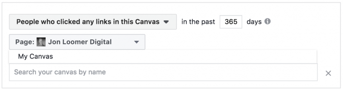 Facebook Fullscreen Experience Custom Audience