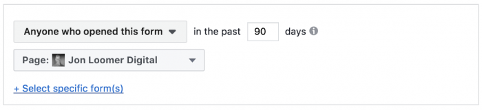 Facebook Lead Form Custom Audiences