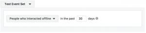 Facebook Offline Event Custom Audiences