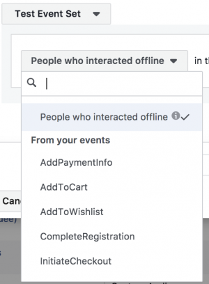 Facebook Offline Event Custom Audiences