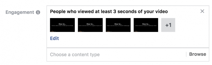 Facebook Video Views Custom Audiences