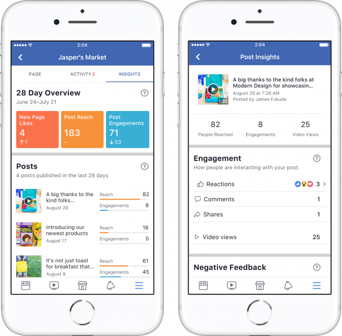 Facebook Page Insights Mobile