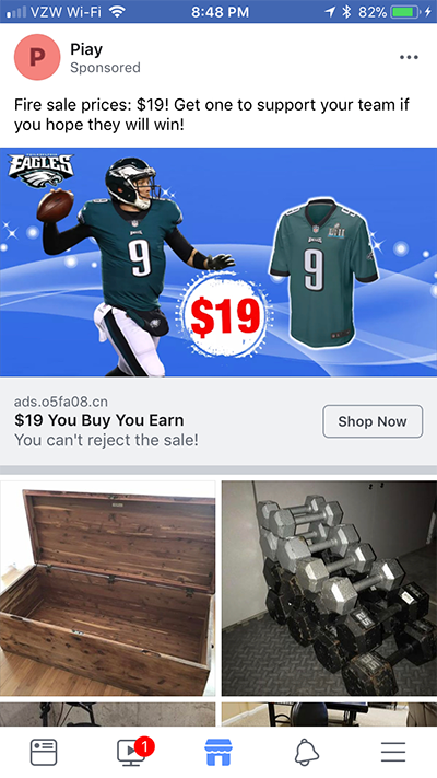 Facebook Marketplace Ads on Mobile