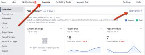 Facebook Reach Reporting - Insights Panel Post Level Navigation