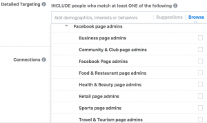 Facebook Interest Targeting - Page Admin Options