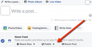 Facebook Post Restricted Audience Selector Illustration