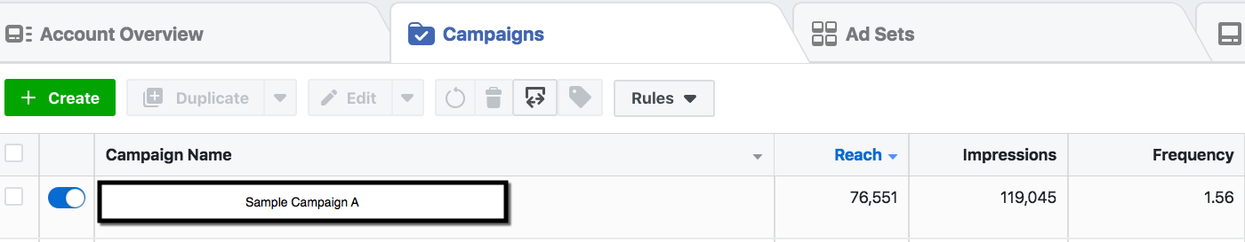Campaign Selection - Facebook Ad Frequency Calculation