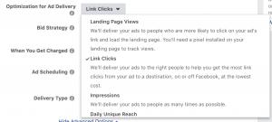Facebook Ads Optimization Link Clicks