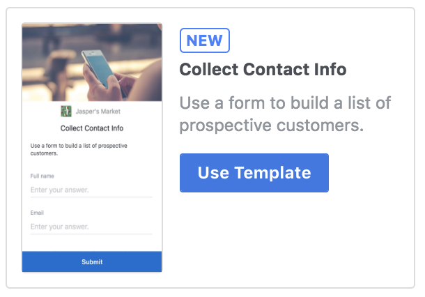 Facebook Canvas Contact Form