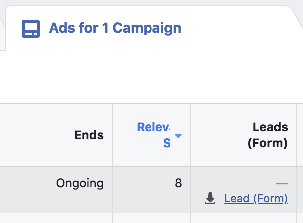 Facebook Canvas Lead Form Contacts