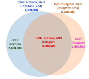 Facebook and Instagram - Audience Overlap Visualization with Exclusions
