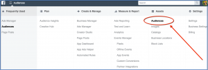 Business Manager and Ads Manager Audiences Tool