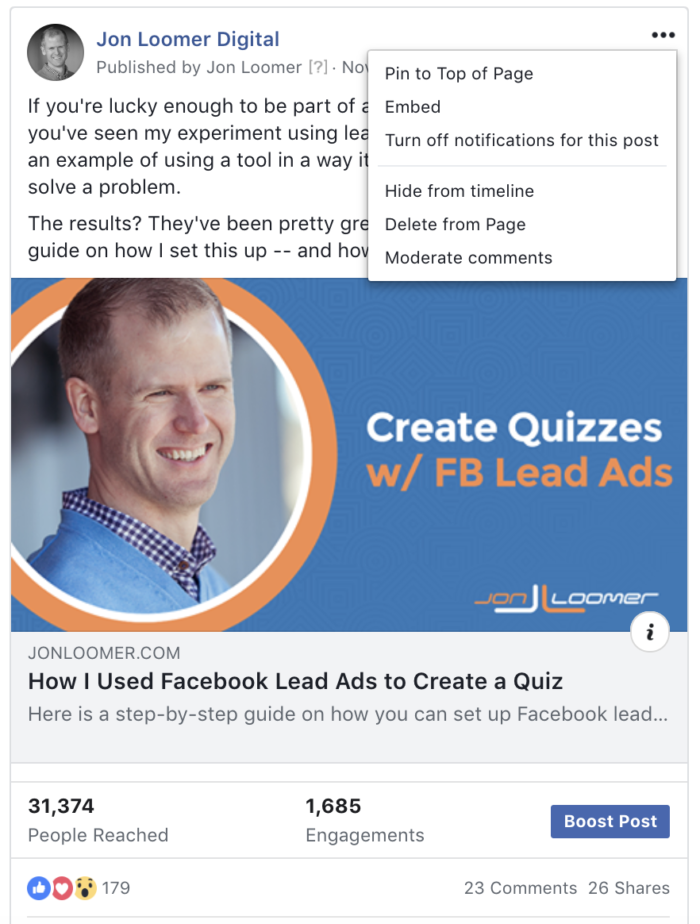 Facebook Post Edit