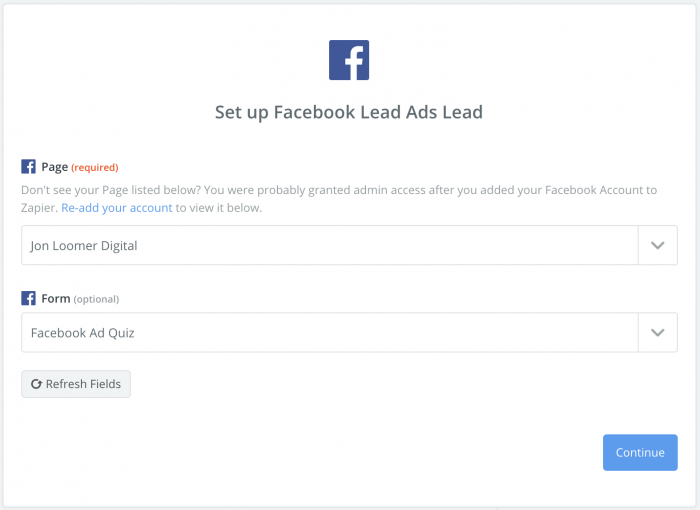 Zapier Facebook Lead Ad CRM