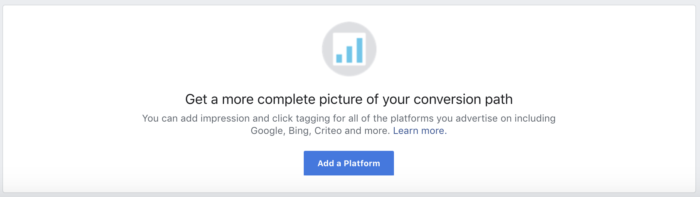 Facebook Attribution Add Platform
