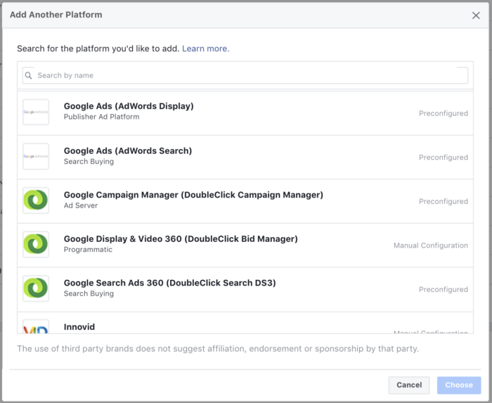 Facebook Attribution Sources Google