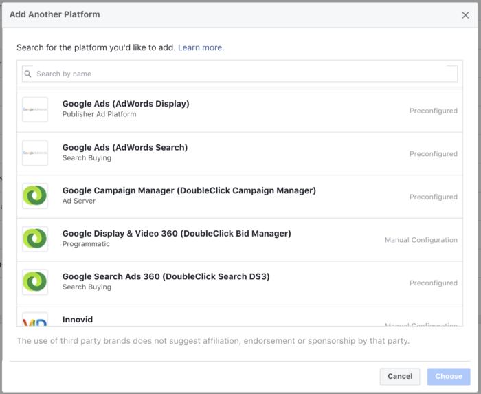 Facebook Attribution Sources Google