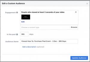 Video Views Custom Audience