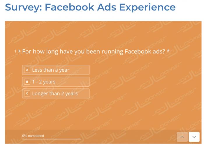 Facebook Ads Experience Survey