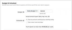 Facebook Daily Lifetime Budget