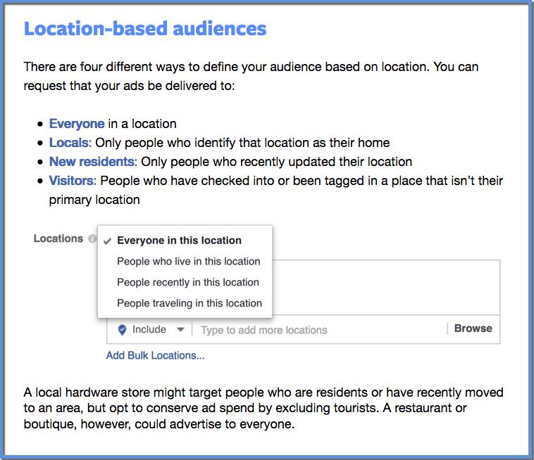 Facebook Location Options - Blueprint Training Module