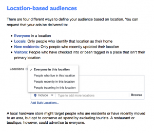 Location Targeting Options - Facebook Blueprint Training