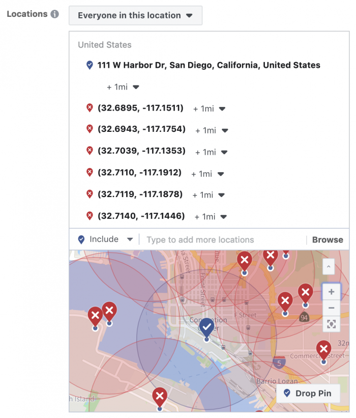 Facebook Ads Geographic Microtargeting