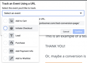 Facebook Pixel Events