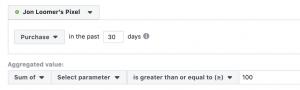Facebook Website Custom Audiences Events