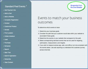 Facebook App Events One-Sheeter