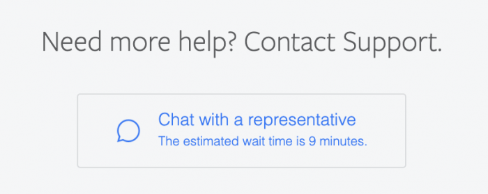 Facebook Chat Support