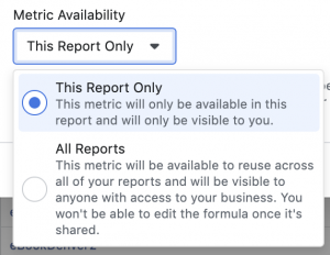 Facebook Ads Reporting Custom Metrics