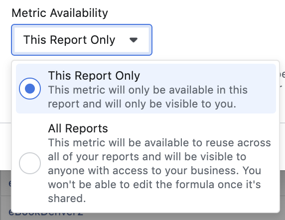 Facebook Ads Reporting Custom Metrics