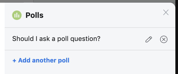 Facebook Video Poll