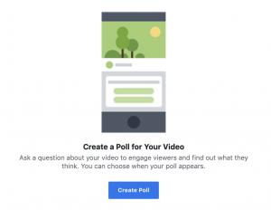Facebook Video Poll