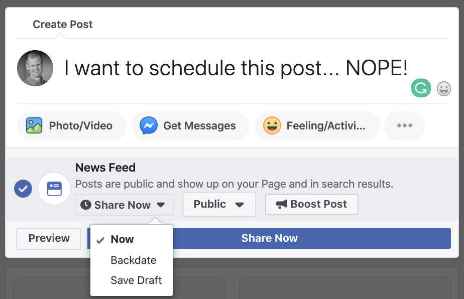 Can You No Longer Schedule Facebook Page Posts? Jon Loomer