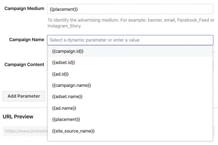 Facebook URL Builder