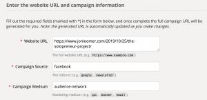 Google URL Builder