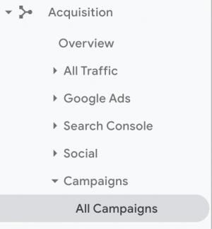 Google Analytics Acquisition