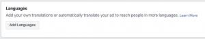 Facebook Ads Automatic Language Translation
