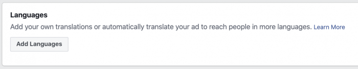 Facebook Ads Automatic Language Translation