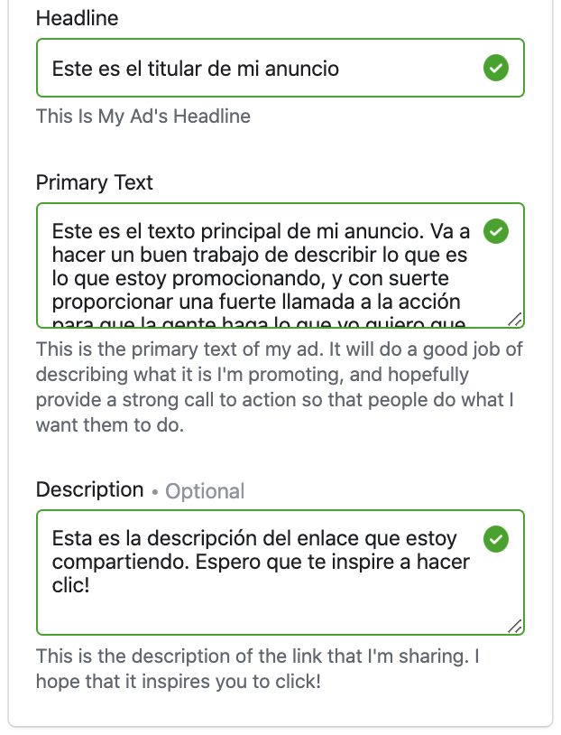 Facebook Ads Automatic Translation