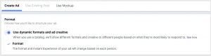 Facebook Dynamic Formats and Ad Creative