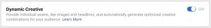 Facebook Ads Dynamic Creative