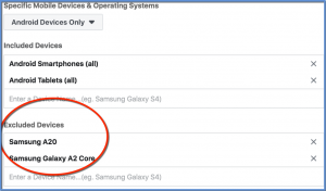 Exclude Specific Devices - Samsung Example