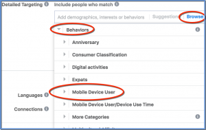 Detailed Targeting - Browse - Mobile Device User