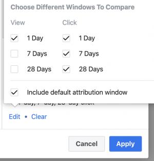 Facebook Ads Attribution Window