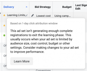 Facebook Ads Learning Limited